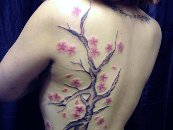 Tree Back Tattoo